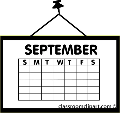 September calendar clipart west arundel creative arts