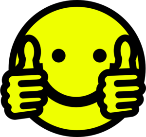 Smiley face thumbs up animation free clipart images