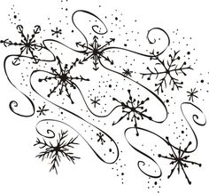 Snowflake on snowflakes public domain and clip art