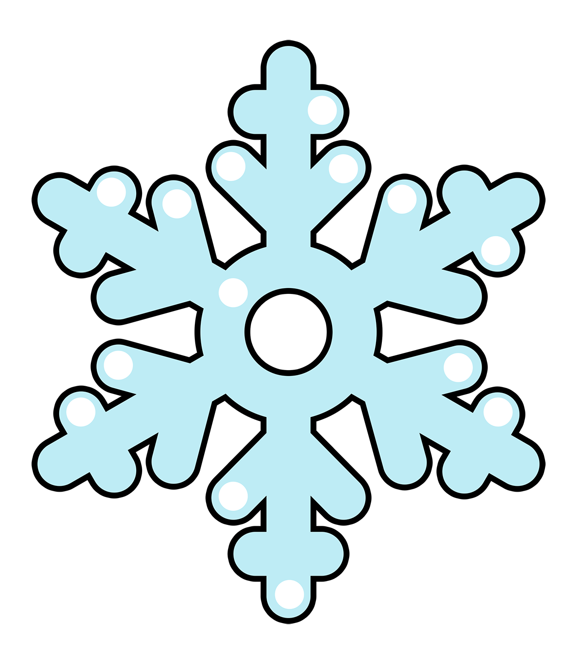 Snowflakes free to use clip art