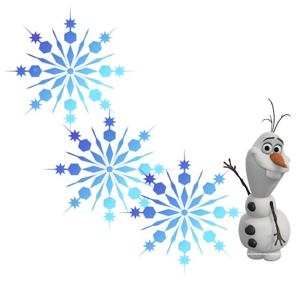 Snowflakes frozen font clipart