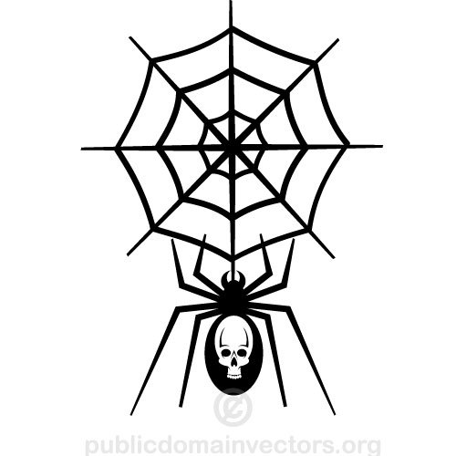 Spider net vector clip art public domain vectors