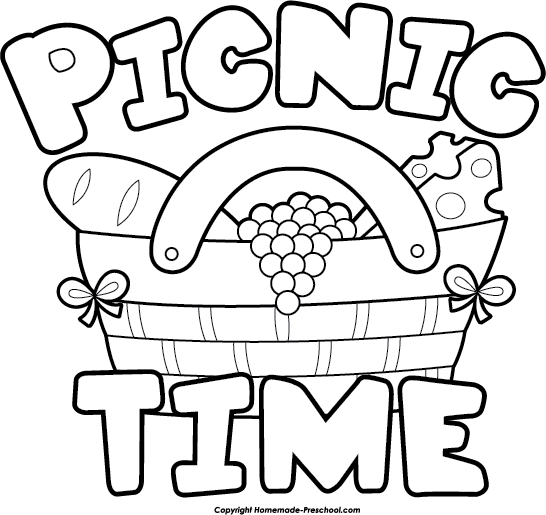 The picnic item card clipart clipartcow