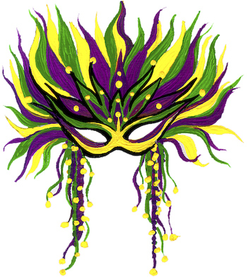 Theme mardi gras mask clip art clipartcow