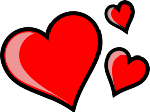 Three hearts clipart