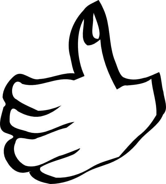 Thumbs up clipart 5