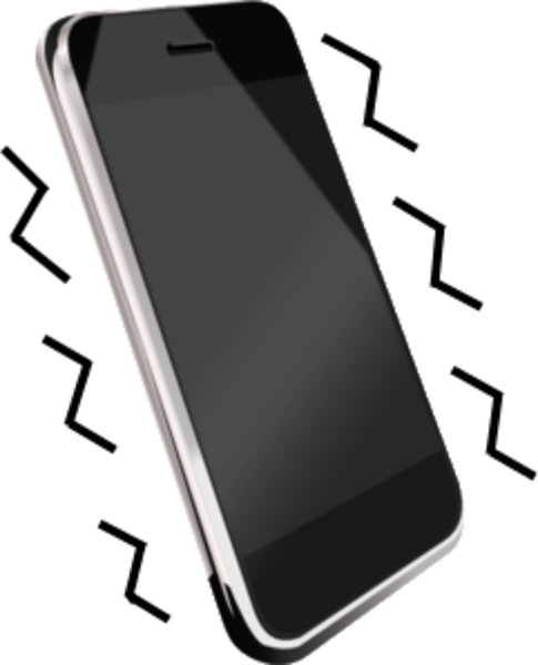 Vibrating cell phone clipart 2