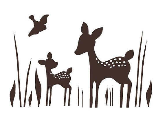 Willow deer clipart