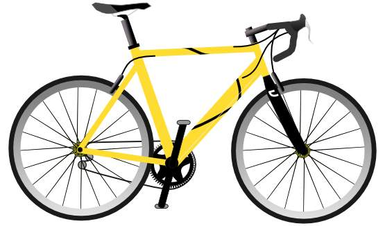 Yellow bicycle clip art