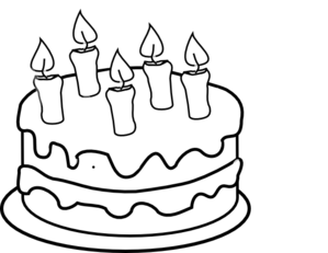 Birthday Cake Clip Art Black And White Free Clipartix