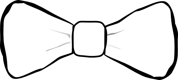 Black and white bow tie clip art clipart