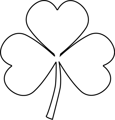 Black and white shamrock clip art black and white shamrock image