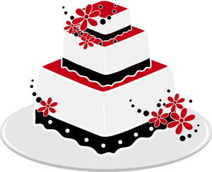 Black and white wedding cake clip art free