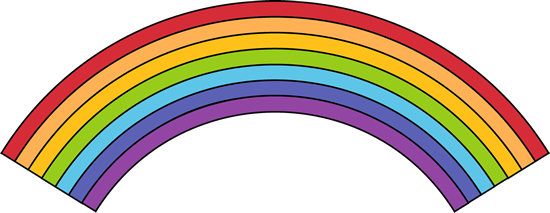 Black outline rainbow clip art black outline rainbow image