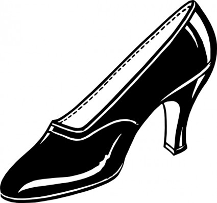 Black shoe clip art free vector in open office drawing svg svg