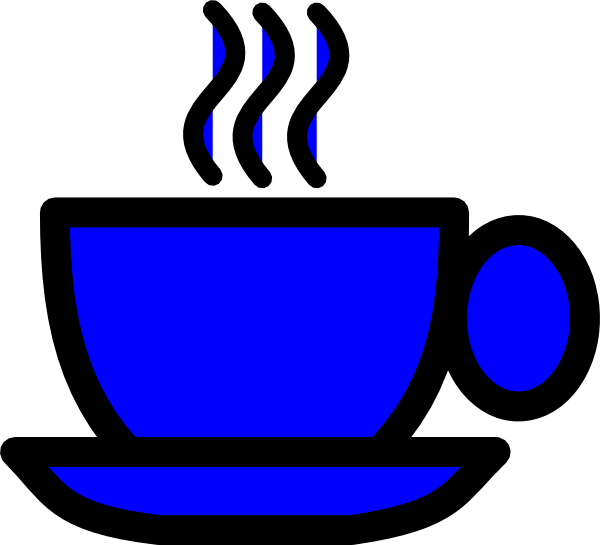 Blue coffee cup clip art