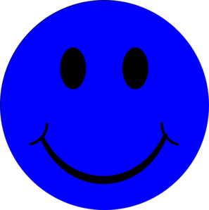 Blue smiley face clip art at clker vector clip art