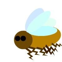 Bumble bee clip art 4