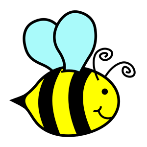 Bumble bee honey bee clipart image cartoon honey bee flying around