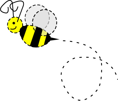 Bumble bee with trail clipart clipart kid