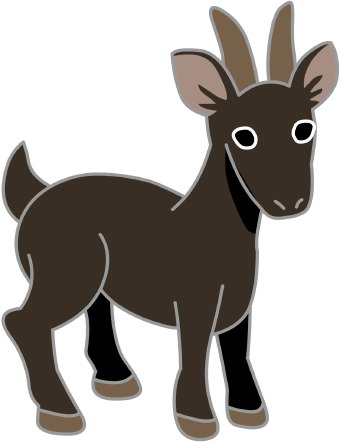 Cartoon goat clip art free vector in open office drawing svg 2 4