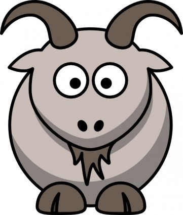 Cartoon goat clip art free vector in open office drawing svg