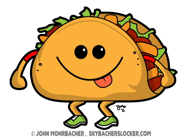 Cartoon tacos danaspac top clip art