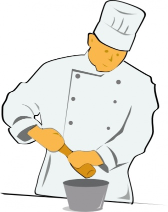 Chef cooking free clipart