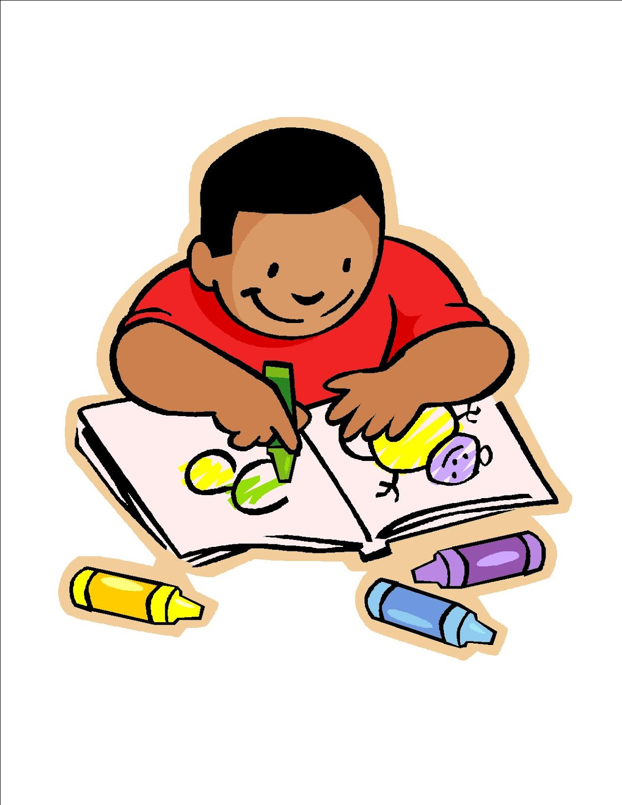 Child thinking clipart 5