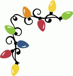 Christmas lights christmas frames borders on album picasa and clip art