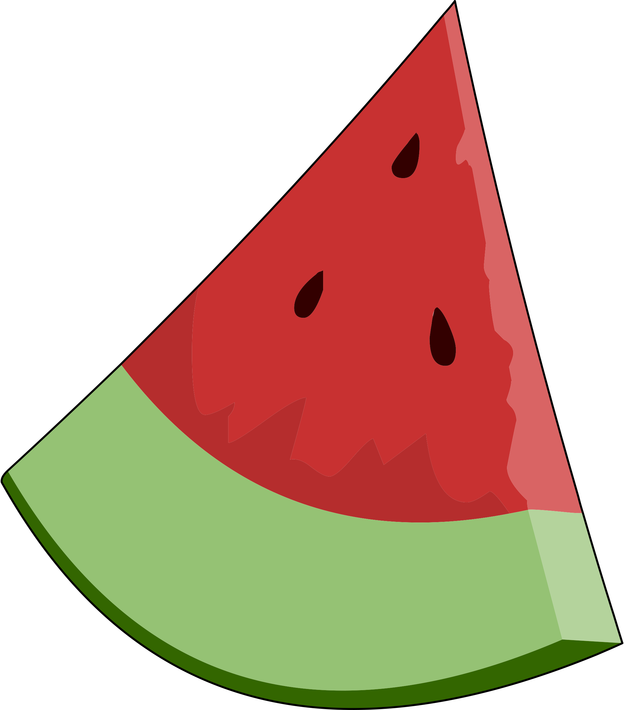 Clip art of a watermelon clipart cliparts for you clipartcow