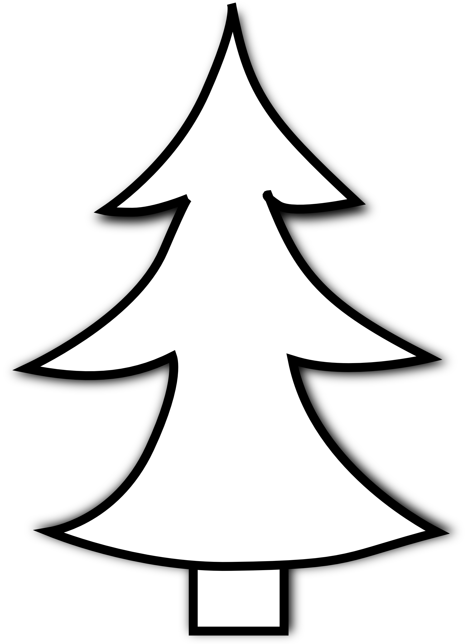 Clip art pine trees black and white free clipart