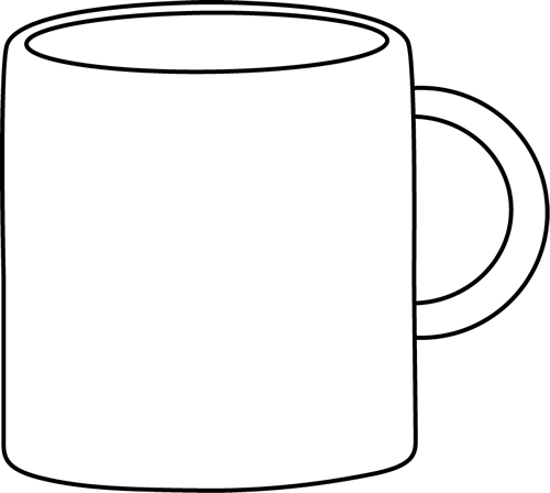Coffee cup black and white mug clip art black and white mug image
