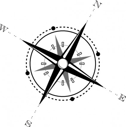 Compass black and whitepass clip art free vector in open office