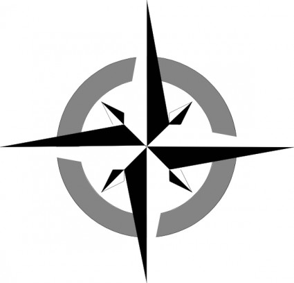 Compass rose clip art free vector in open office drawing svg
