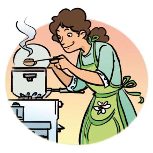 Cooking dinner clipart clipartcow