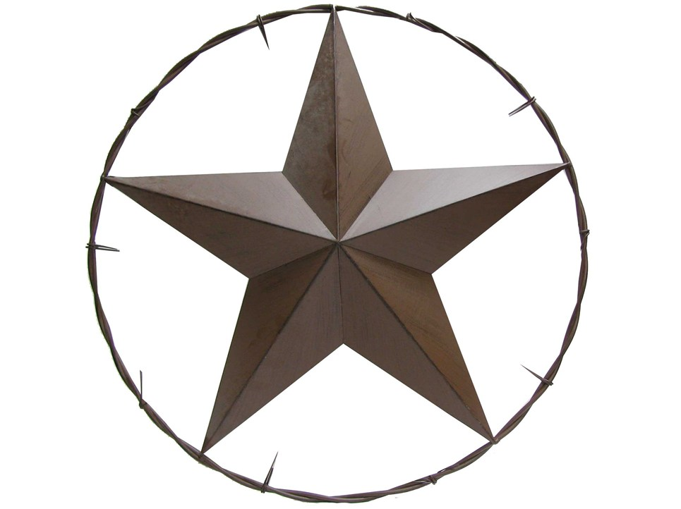Country western star clipart