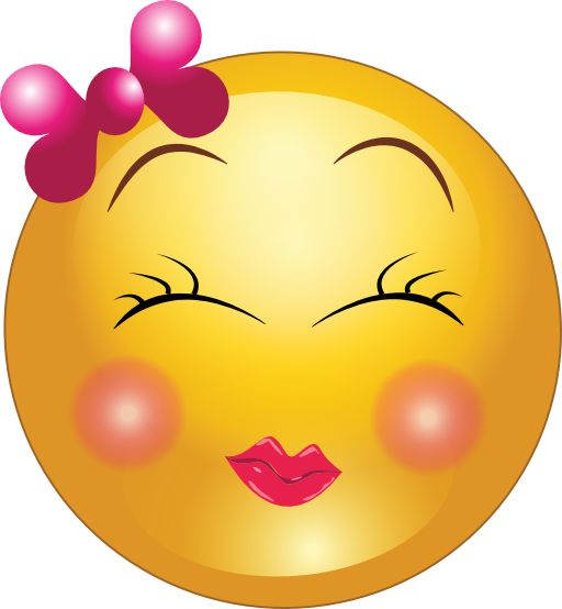 Cute girl smiley faces cute shy girl smiley emoticon clipart