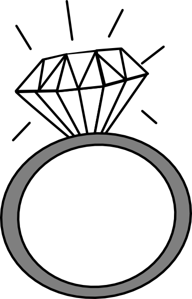 Diamond ring clipart free clipart images 5