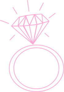 Diamond ring pink clip art at clker vector clip art 2