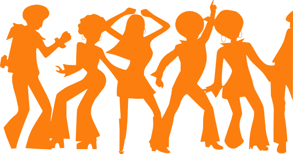 Disco party clipart