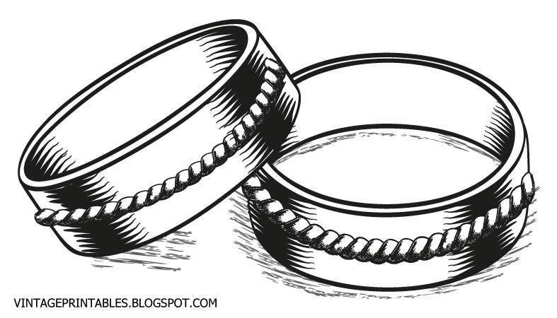 Elegant wedding ring clipart