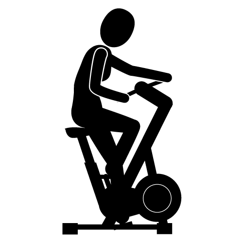 Exercise bike clipart