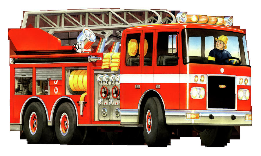 Fire truck fire engine clipart image cartoon firetruck creating
