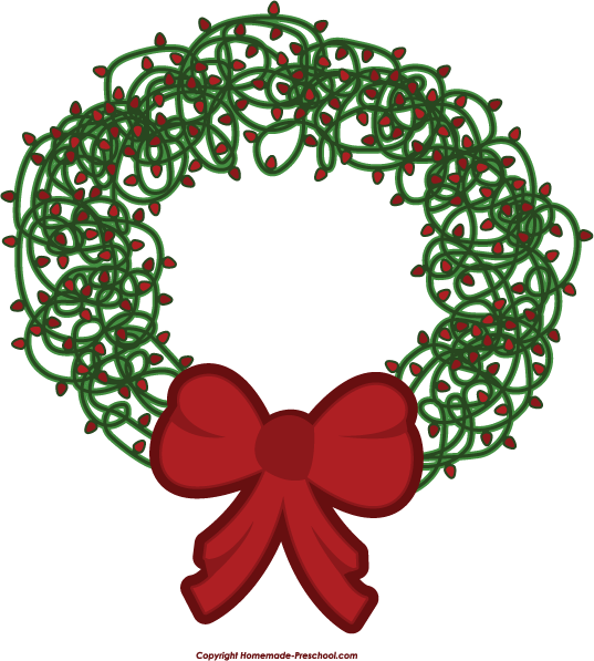 Free christmas lights clipart 3