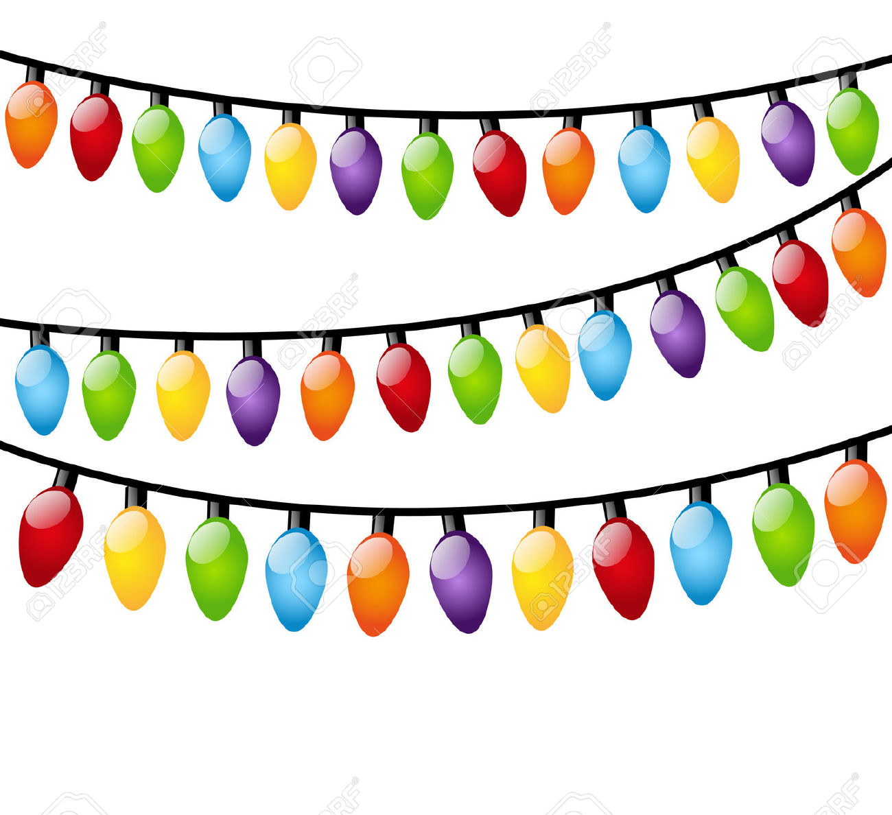 Free christmas lights vector border vector bright christmas cliparts