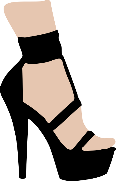 Free clip art of a shoe clipartcow