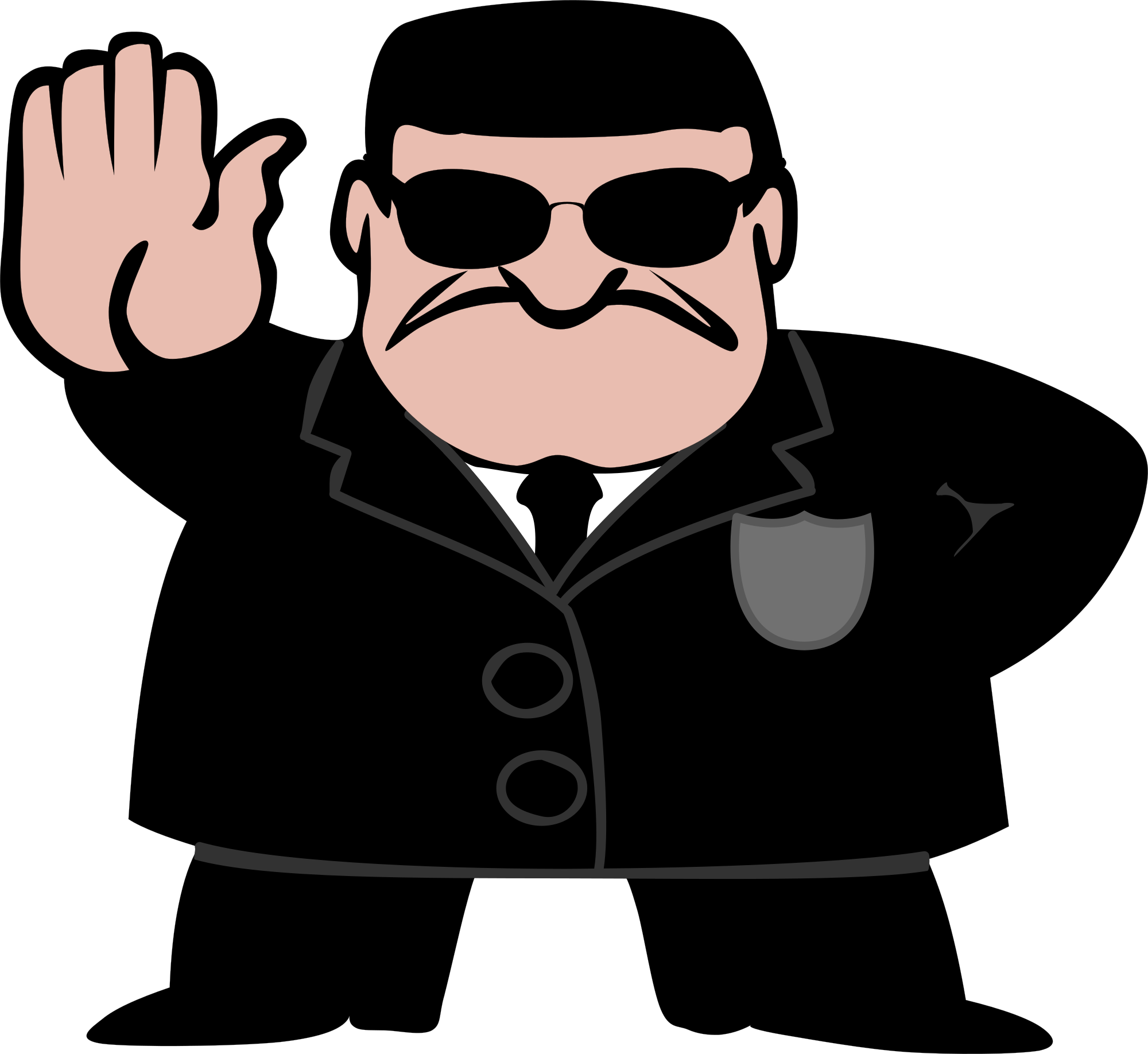 Free fbi police man stop clipart clipart and vector image