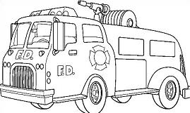 Free fire truck clipart clipartcow