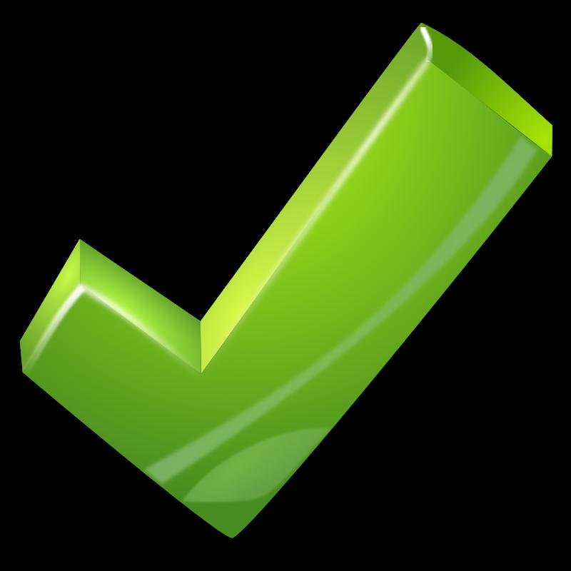 free green check mark clip art clipartix